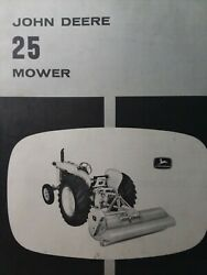 John Deere No. 25 Flail Field Mower Implement Attachment Owners Manual