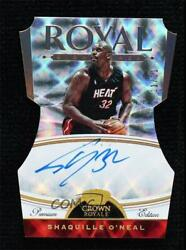 2019-20 Panini Crown Royale Fotl Premium Edition /11 Shaquille Oand039neal Auto Hof