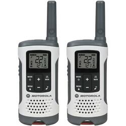 Motorola T260 Talkabout Rechargeable 2-way Radio White Gmrs/frs Communications