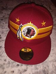 New Washington Redskins Official 2019 Draft 59fifty Fitted 7 1/4 Hat City Flag