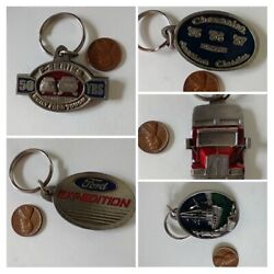 Pewter Enamel Key Ring Keychain Ford F Series Expedition Big Rig Chevy Sail Boat