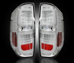 2014-2017 Toyota Tundra Rear Brake And Reverse Clear Taillights W Brake Led Bulbs