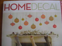 Homedecal Peel amp; Stick Decorative Stickers Holiday Ornaments Pink Green Foil