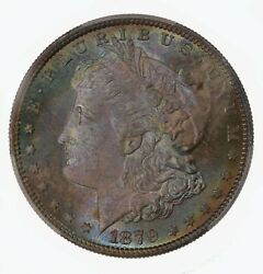 1879-s Morgan 1 Pcgs Cac Certified Ms67+ Premium Quality Color Toned Obverse