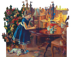 Davici Wooden Whimsy Jigsaw Puzzle. Doll's House, 240 Pcs.