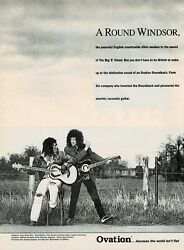 Ovation Guitars - Seal And Brian May Of Queen - 1993 Print Ad