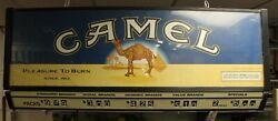 Vtg Cigarette Double Sided Lighted Camel Store Pricing Sign 49 X 15