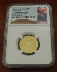 Australia 2009 Gold Sovereign 25 Ngc Pf69uc First Year Of Issue