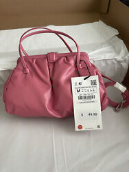 Zara Pink Soft Clasp Mini Crossbody Bag New With Tags Free Shipping