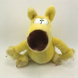 Vintage Mother Goose And Grimm Plush Window Cling Yellow Dog 1987