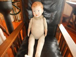 Antique Composition Jointed Doll 30 1800and039s Clown