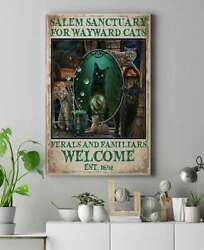 Salem Sanctuary For Wayward Cats 15 Framed Canvas -best Gift For Animal Lovers