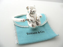 And Co Teddy Bear Baby Rattle Teether Rare Gift Pouch Silver Rolling Swing