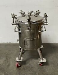 Precision 50 Liter 316l Stainless Steel Single Wall Pressure Vessel 50 Psi