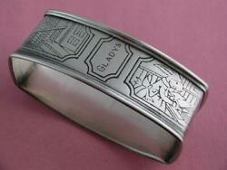 Sterling Webster Napkin Ring Nursery Rhyme Peter Rabbit Going To School Gladys