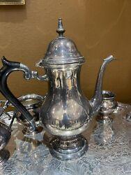 Eales 1779 Silverplate Tea Set Including Tray