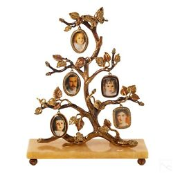 Jay Strongwater Family Tree Picture Frame Nib
