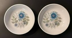 A Pair Of Wedgwood Clementine Pin / Trinket Dishes / Trays