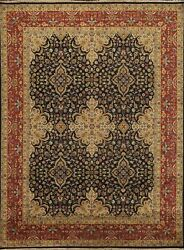 Floral Agra Oriental Hand-knotted Area Rug Traditional Vegetable Dye Carpet 8x10