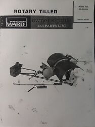 Montgomery Ward Garden 33095a Lawn Tractor Tiller Implement Owner And Parts Manual