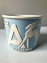 Vintage Haeger Nursery Planter 78-2 Baby Blue And White Pottery Abc Animals Cute
