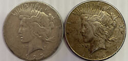 1925 And 1926-s Peace Silver Dollars As