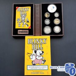 2009 Ram 6 Coin Baby Proof Set Blinky Bill Series With Printed Silver Token