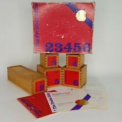 1983 Froebel Gifts 23456 Educational Wood Building W/ Numbered Certificate