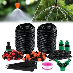30m Drip Irrigation System Plant Kit Watering Garden Lawn Hose Manual/automatic