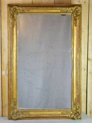 Large 19th Century French Gilded Mirror 32andfrac14 X 50