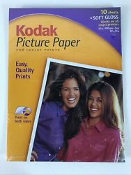 Kodak Picture Paper 10 Soft Gloss Sheets 8 1/2 X 11andrdquo Print On Both Sides C6