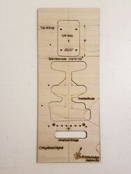 Guitar Body Neck Route +franken Route Hb Floyd Rose Hole Template Strat 3ply