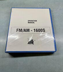 Ifr Fm/am 1600s Communications Service Monitor Operation Manual - Used