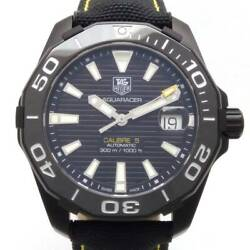 Tag Heuer Aqua Racer Calibre 5 Way218a Automatic Black Dial Stainless Leather