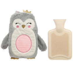 Cute Christmas Penguin 1l Hot Water Bottle And Cover - Characteristic Design