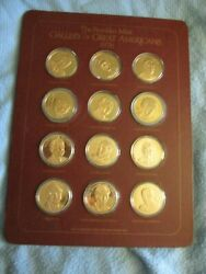 Gallery Of Great Americans 1976 Medals Bronze Franklin Mint 12 Lot Medal