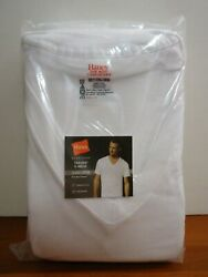 Hanes 4-pack Men's Big And Tall 100 Cotton V-neck T-shirts White