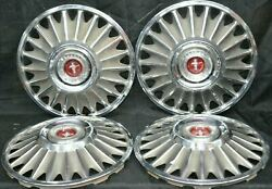 1967 Ford Mustang Hubcaps 14andrdquo Vintage Set Of 4 H 630 67and039 Wheel Covers Oem Used