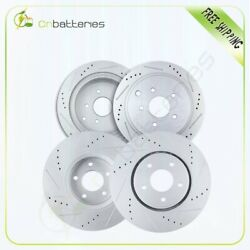 Front + Rear Drilled And Slotted Brake Rotors For Infiniti Fx35 11/2005 - 2012