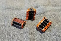 Lmh Detail Part V8 Engine Block Bare Car Truck O On3 On30 3-pc S2 Chevy Orange