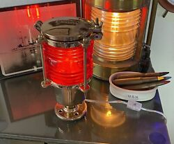 Rare Antique Vintage Wwii Us Navy Perko 403 Morse Code Signal Light Ruby Red