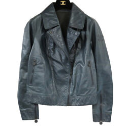 Authentic Riders Double Leather Jacket Navy 0164
