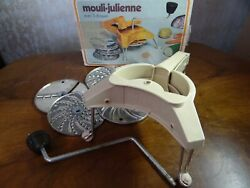 Vintage Mouli Julienne Food Grater Retro Cheese Grater Made In France
