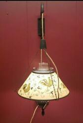 Antique Swinging Arm Wall Light. Works With Antique Country Shade With Rosters