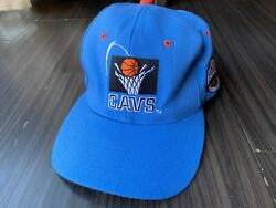 Vtg Starter Starfit Cleveland Cavaliers Blue Fitted Hat Fits 6 5/8 - 7 1/8