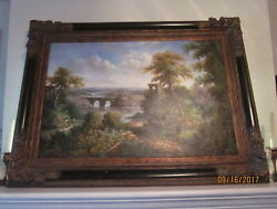 Early 20th C. Landscape Painting, Oil On Canvas, Unsigned