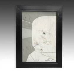 Michael Banks Pale Face 1 Painting On Board Framed Contemporary Folk Artist