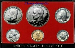 1977 S Us Proof Set ☆☆ Great Collectible ☆☆ Great For Sets ☆☆ Box Included