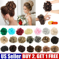 Curly Hair Bun Ponytail Scrunchie Claw Comb Messy Extensions Natural Hair Piece