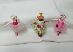 Angelina Ballerina Mice Collectables Lot Of Three Dolls By Sababa Toys Guc